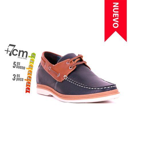 Zapato Casual Walk Azul/Café Max Denegri +7cms de Altura