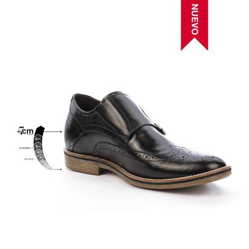 Zapato Casual Stamford Negro Max Denegri + 7 cms de Altura