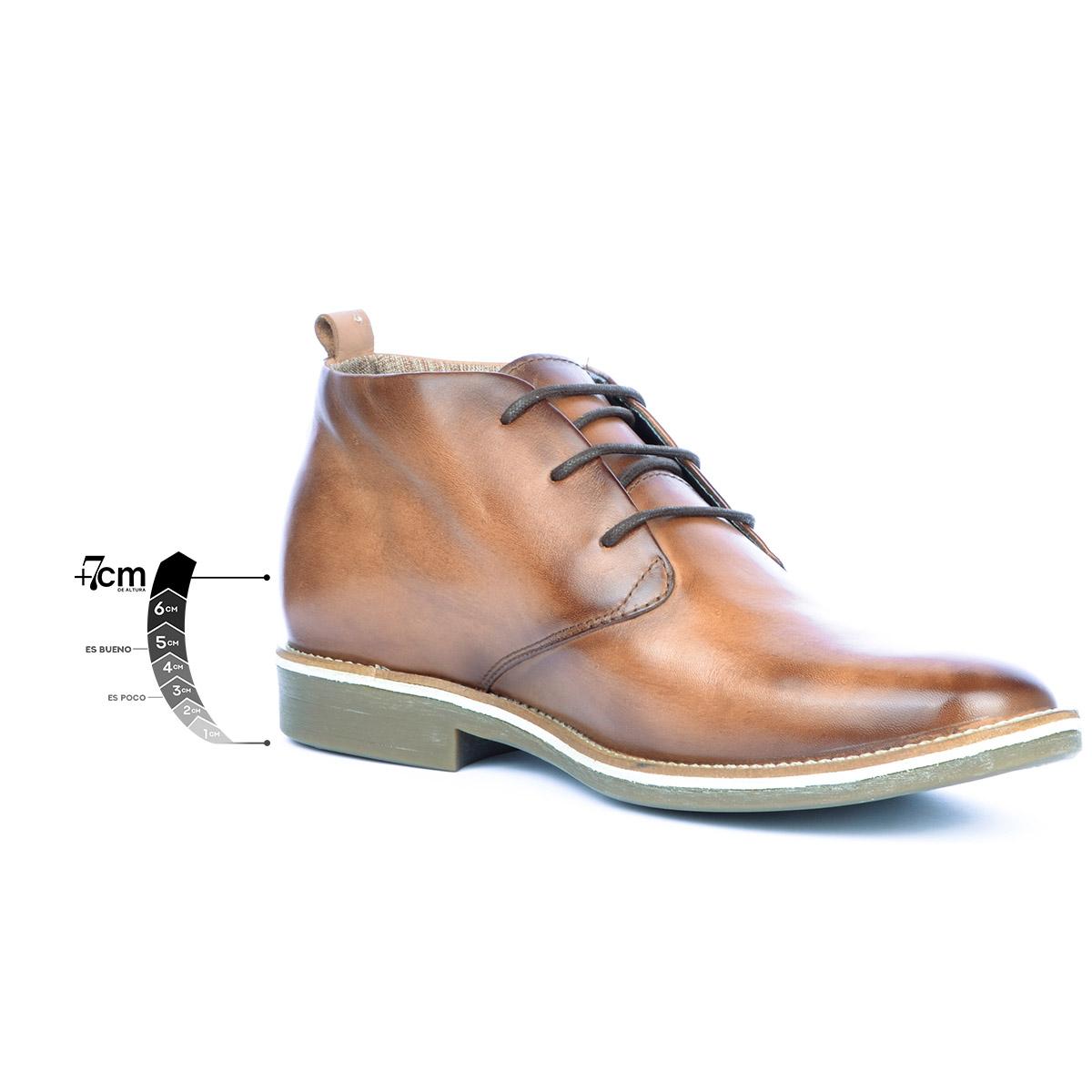 Botín Casual Indiana Miel Max Denegri + 7cms de Altura_76376