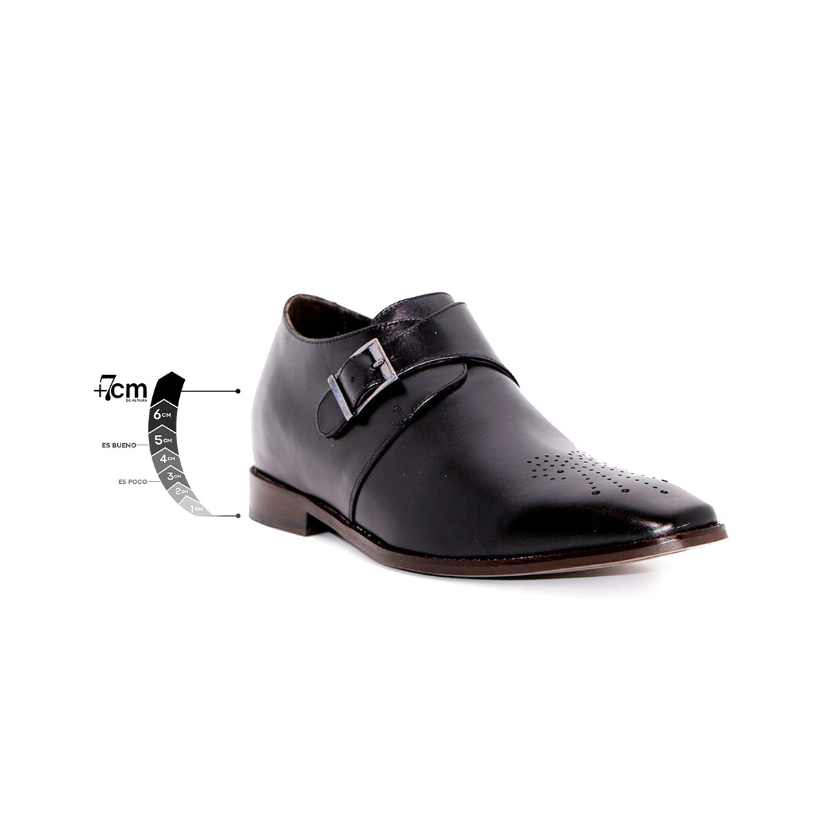 Zapato Formal Gentleman Negro Max Denegri +7cms De Altura_76299