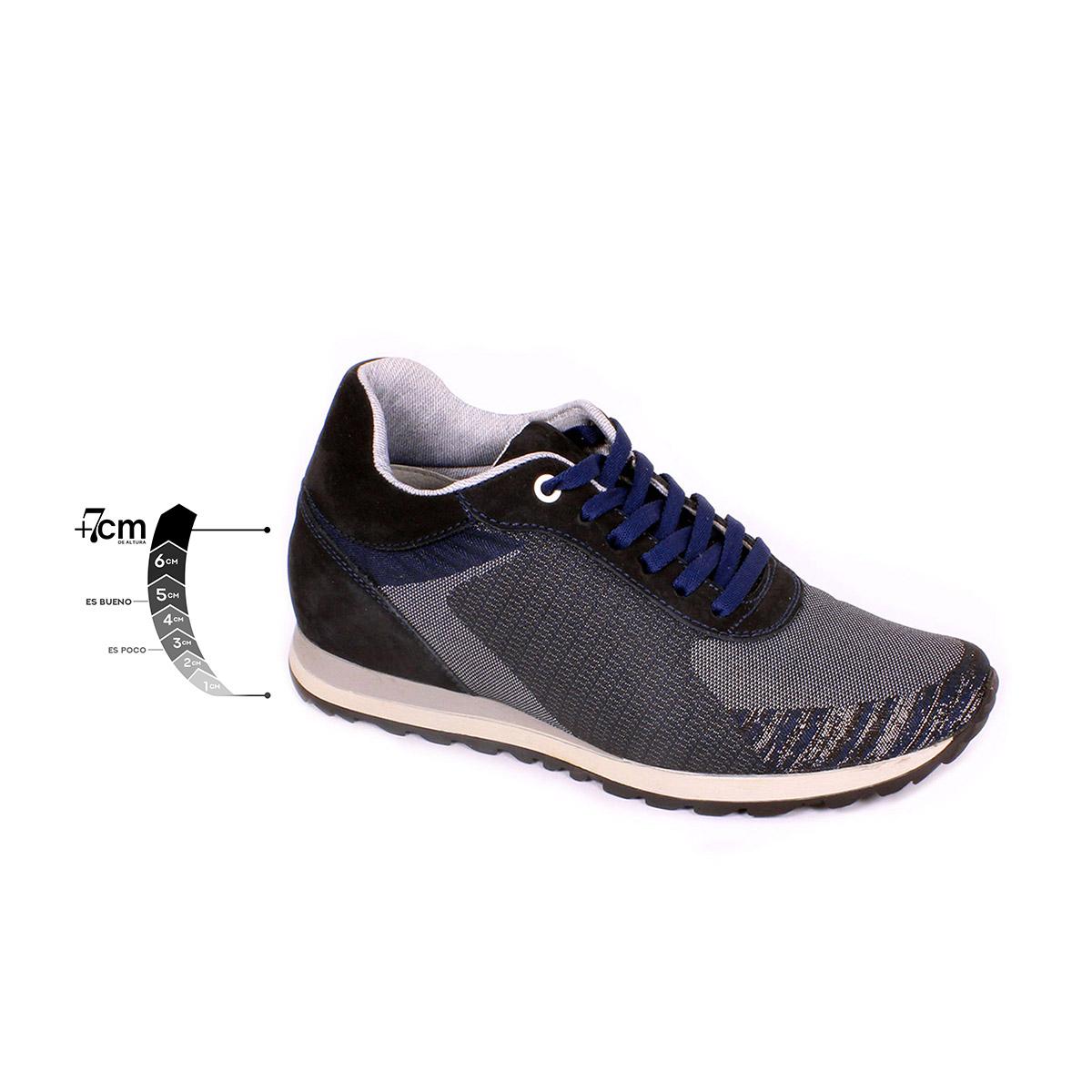 Tenis Unlimited Azul Max Denegri +7cms de Altura_75288