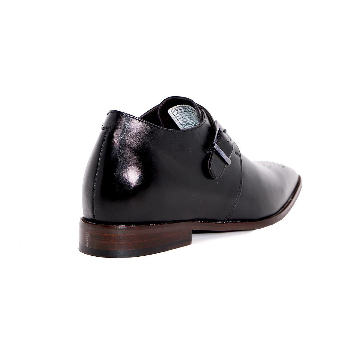 Zapato Formal Gentleman Negro Max Denegri +7cms De Altura_72725