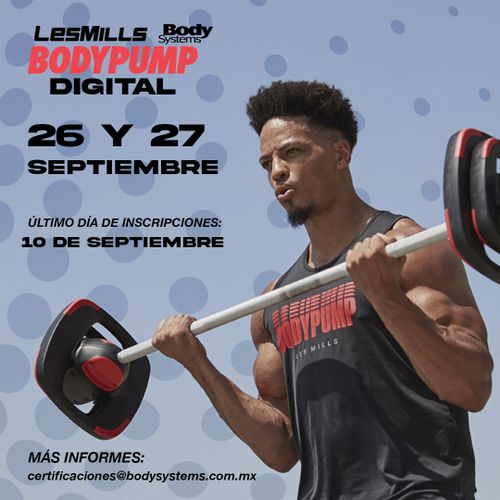 Modulo Inicial BodyPump 2020 el 26 y 27 septiembre (ON LINE)