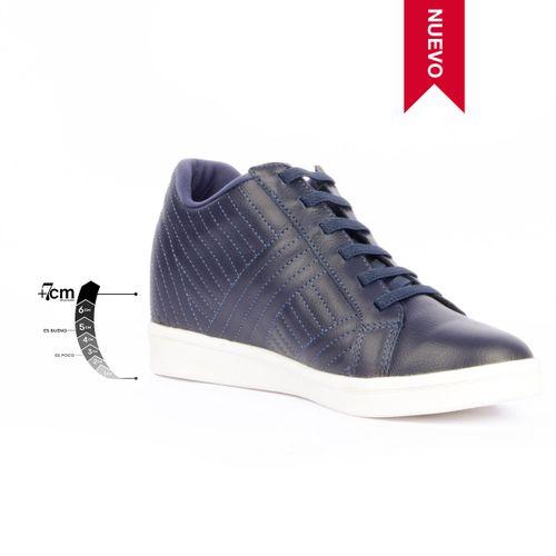 Tenis Casual Boulevard Azul Max Denegri +7cms de Altura