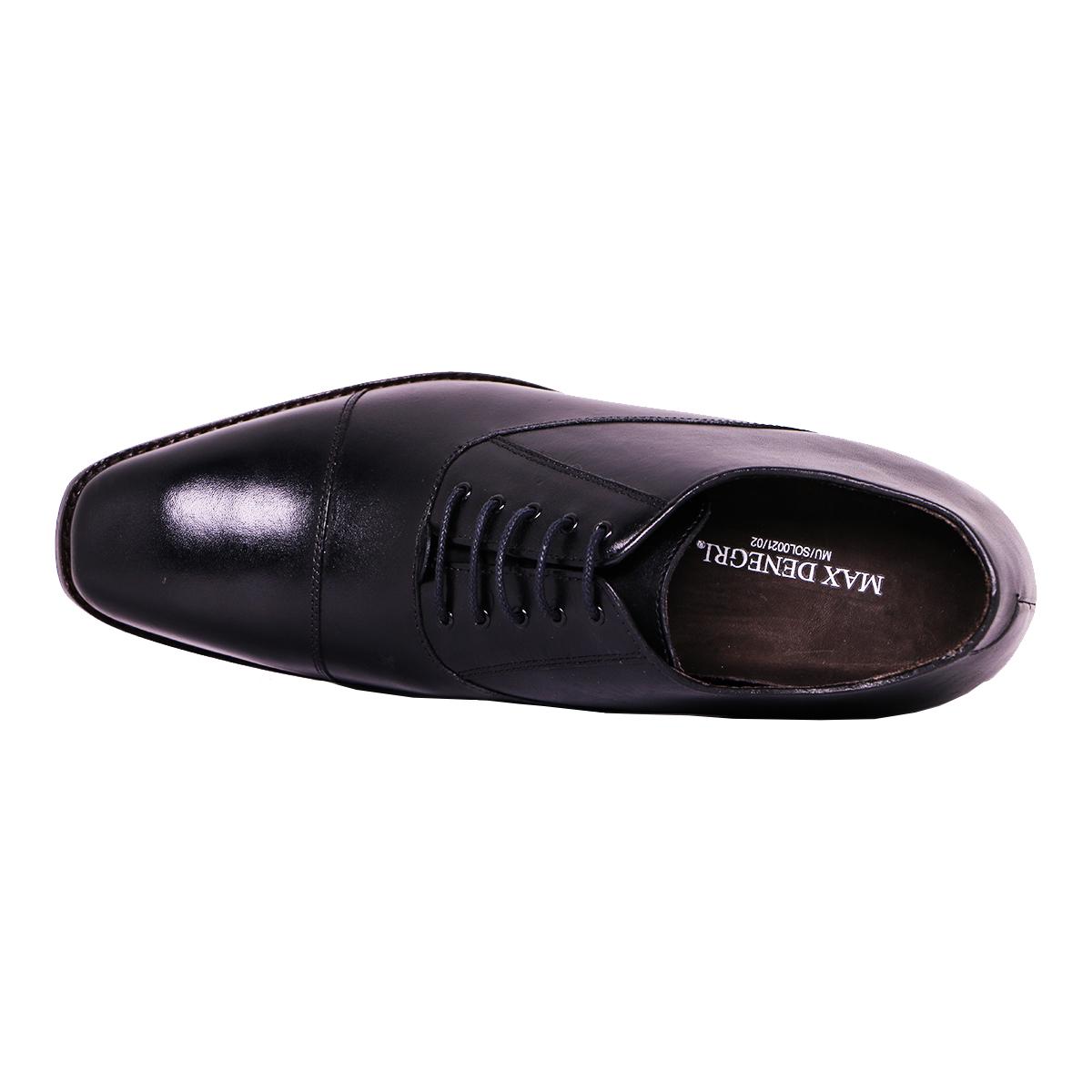 Zapato Formal Director Negro Max Denegri +7cms De Altura_72810