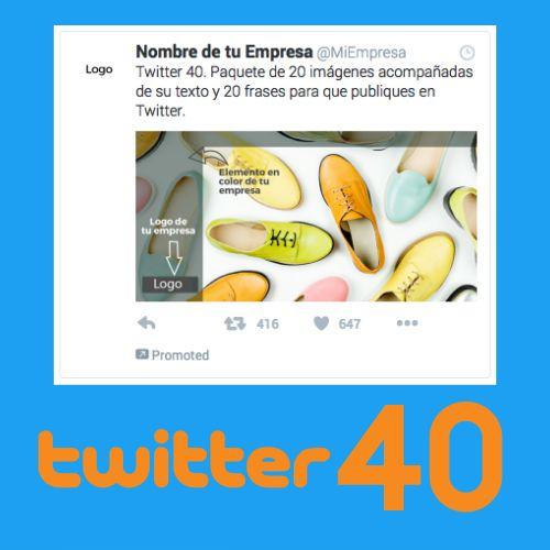 40 piezas de contenido para Twitter