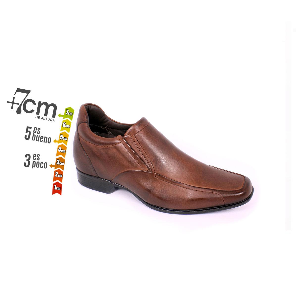 Zapato Formal Tabaco Café Max Denegri +7cm de Altura_74160