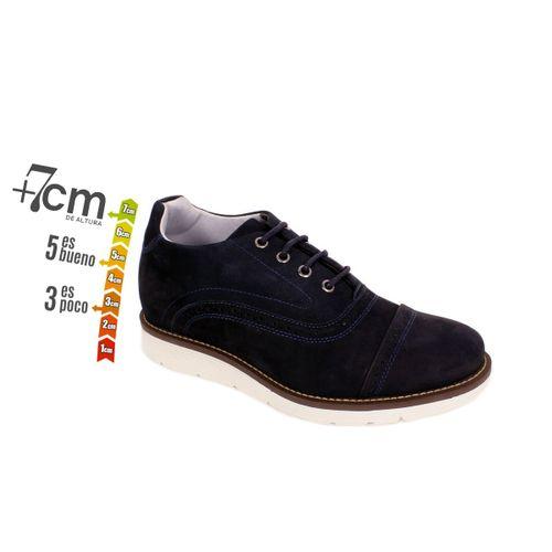 Zapato Casual Casino Azul Max Denegri +7cm de Altura