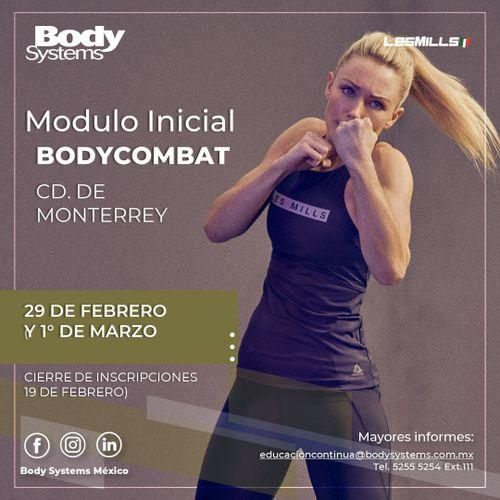 Módulo Inicial BodyCombat 2020 en Monterrey 29 febrero y 1 marzo