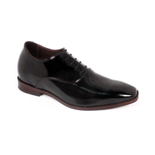 Zapato Formal Elegant Charol Negro Max Denegri +7cm de Altura