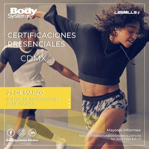 Certificación Internacional Les Mills Presencial 2020 Ciudad de México 27 marzo
