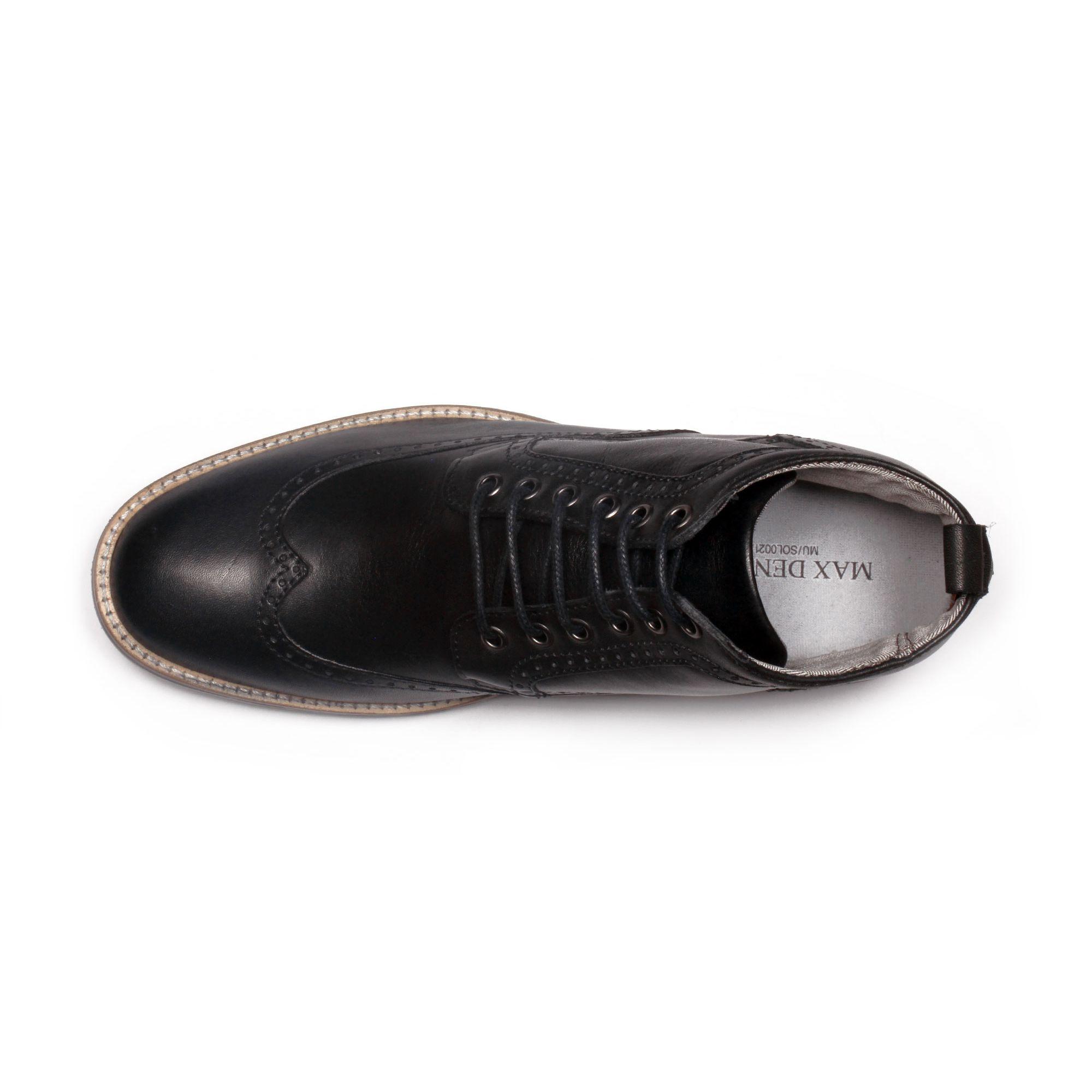 Botín Hipster Negro Max Denegri +7cms de Altura_70880