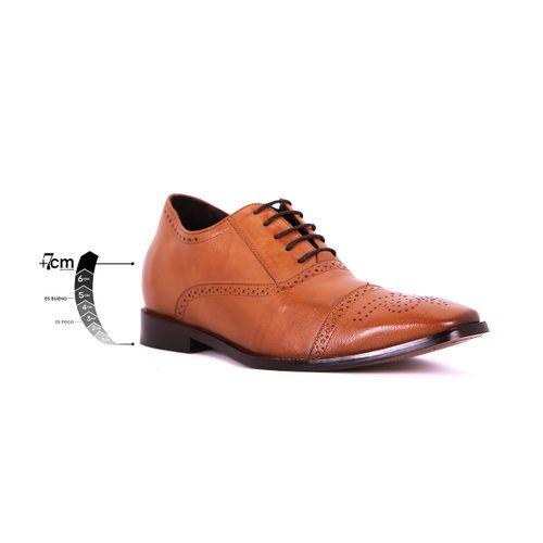 Zapato Formal British Café Claro Max Denegri +7 cms de Altura