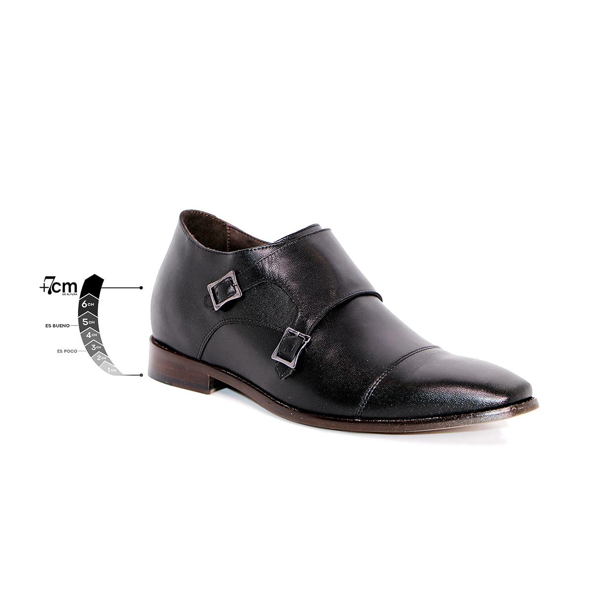Zapato Formal Lawyers Negro Max Denegri +7cms De Altura_75317