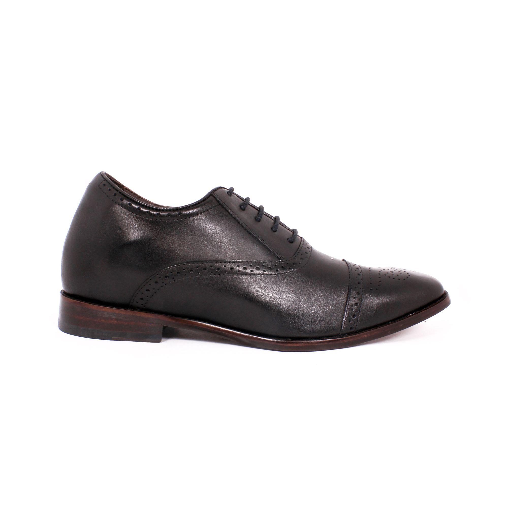 Zapato Formal British Negro Max Denegri +7cms de Altura_70780