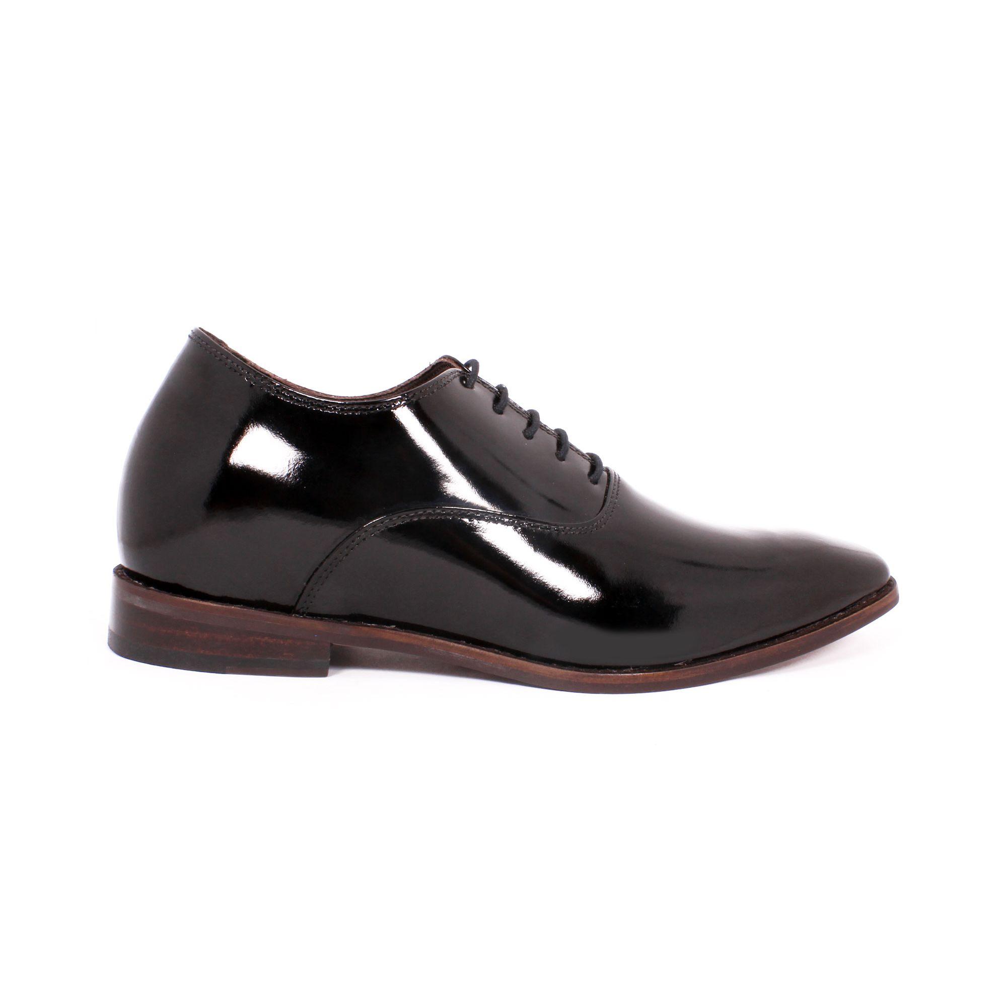 Zapato Formal Elegant Charol Negro Max Denegri +7cm de Altura_70808