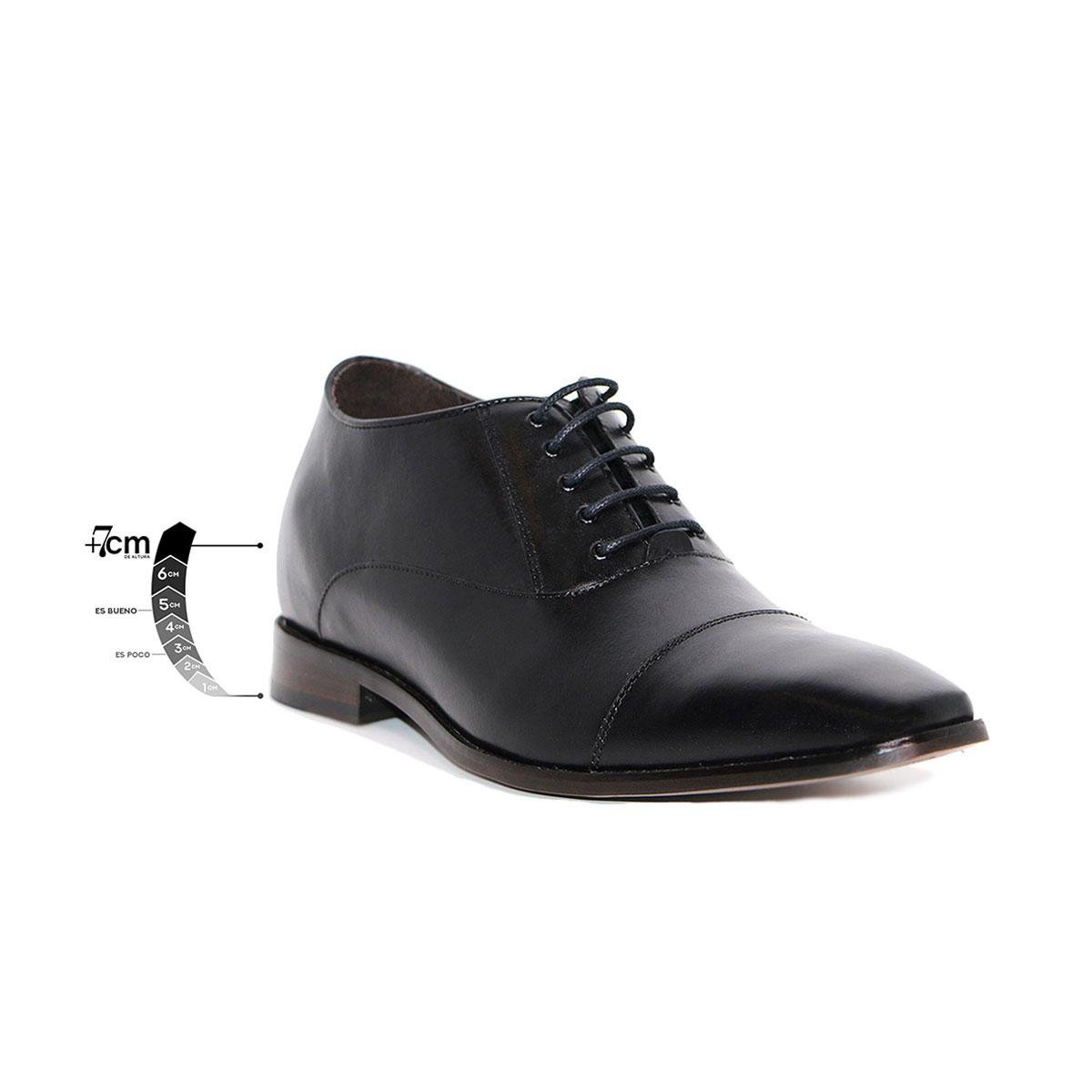 Zapato Formal Director Negro Max Denegri +7cms De Altura_76301