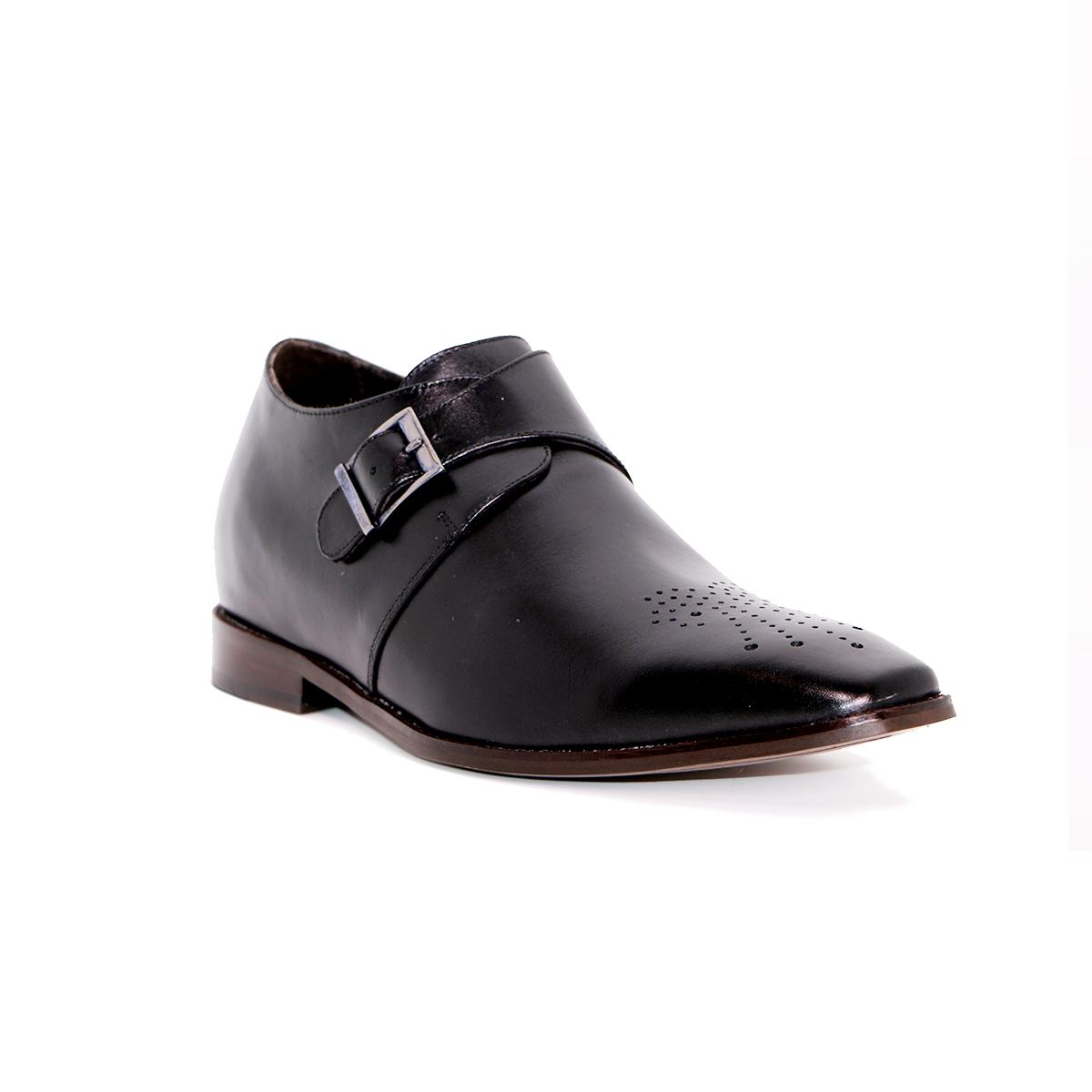 Zapato Formal Gentleman Negro Max Denegri +7cms De Altura_72917