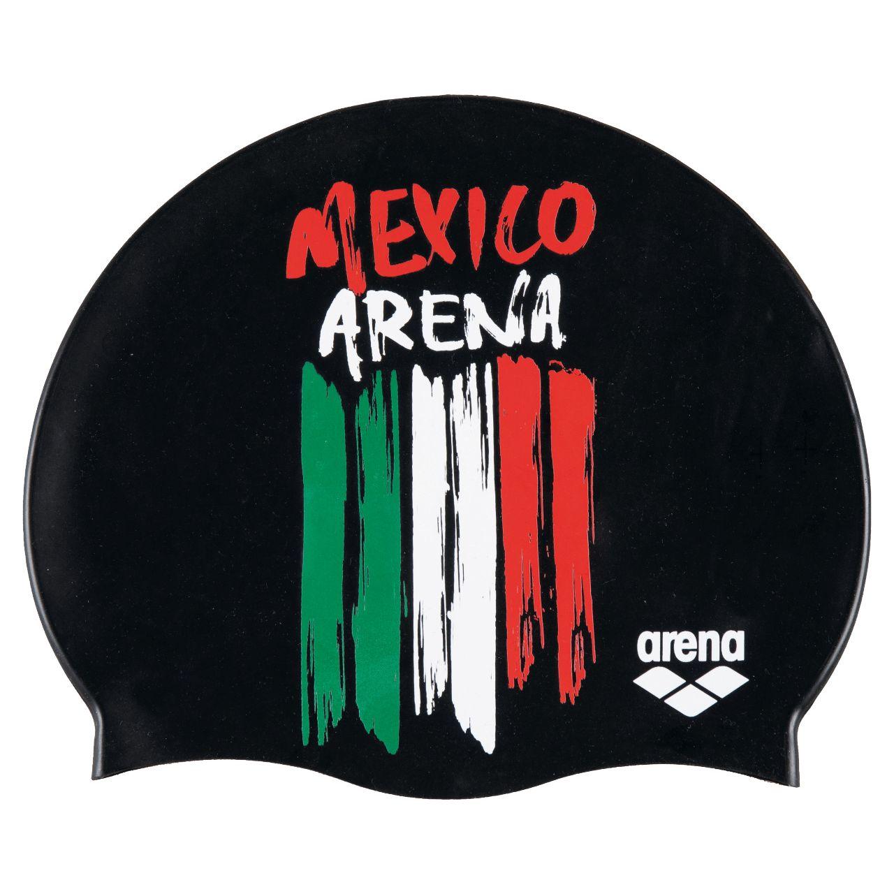 Gorro de Natación arena Unisex Flags Silicone México_77165