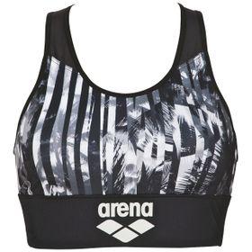 Top Deportivo arena para Mujer Gym de Sujeción Media con Espalda de Malla