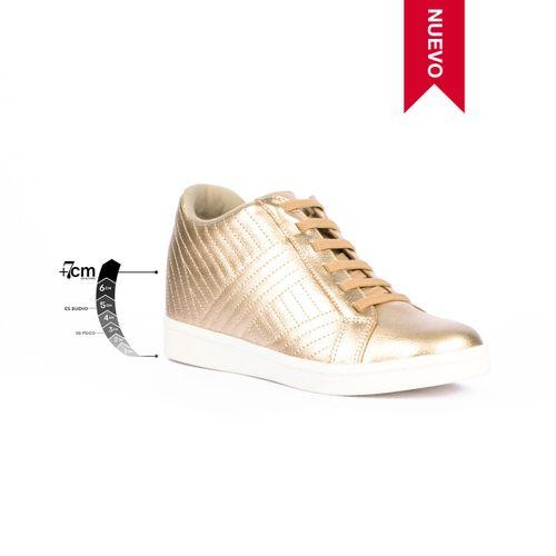 Tenis Casual Boulevard Oro Max Denegri + 7cms de Altura