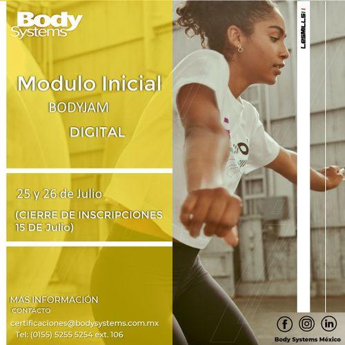 Módulo Inicial BodyJam 2020 el 25 y 26 julio (ON LINE)