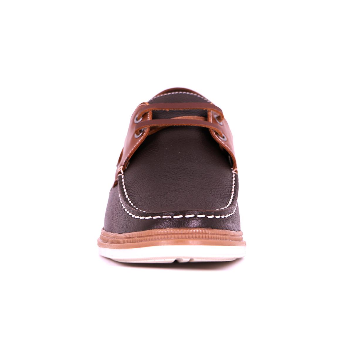 Zapato Casual Walk Café/Café Max Denegri +7cms De Altura_73408