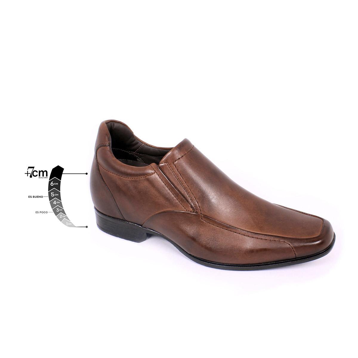 Zapato Formal Tabaco Café Max Denegri +7cms de Altura_75322
