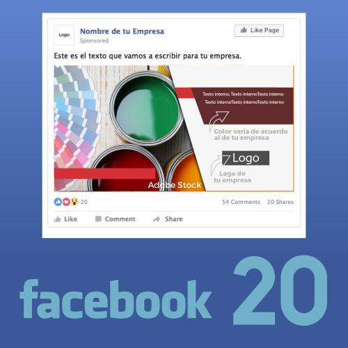 20 Piezas de contenidos para Facebook