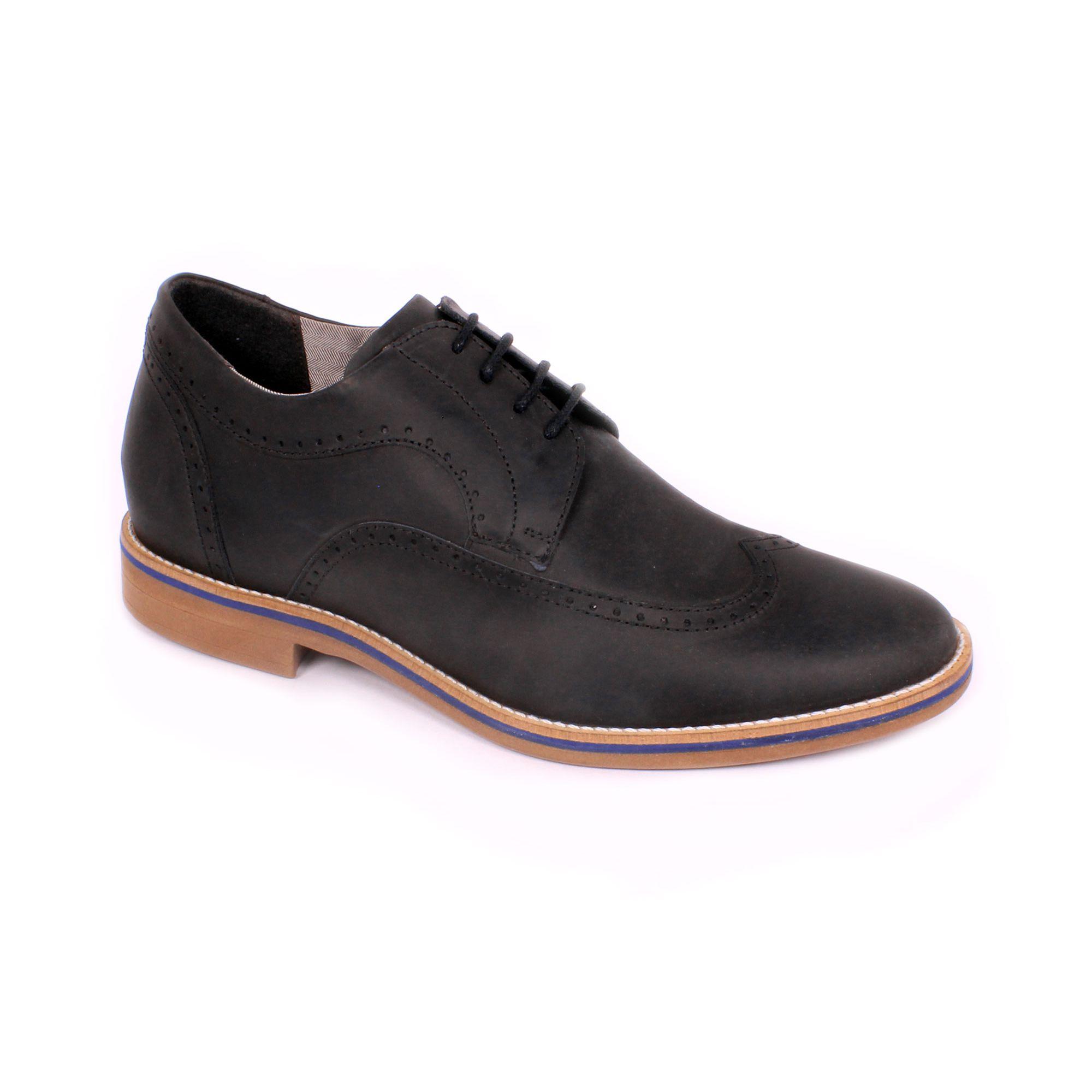 Zapato Casual Oxford Negro Max Denegri +7cm de Altura_70900