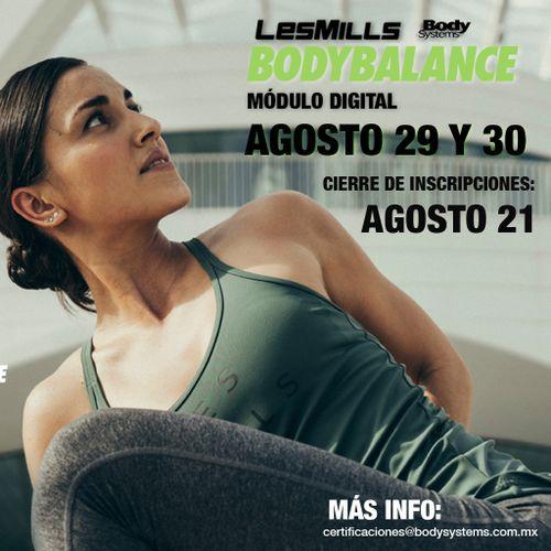 Módulo Inicial BodyBalance 2020 el 29 y 30 agosto (ON LINE)