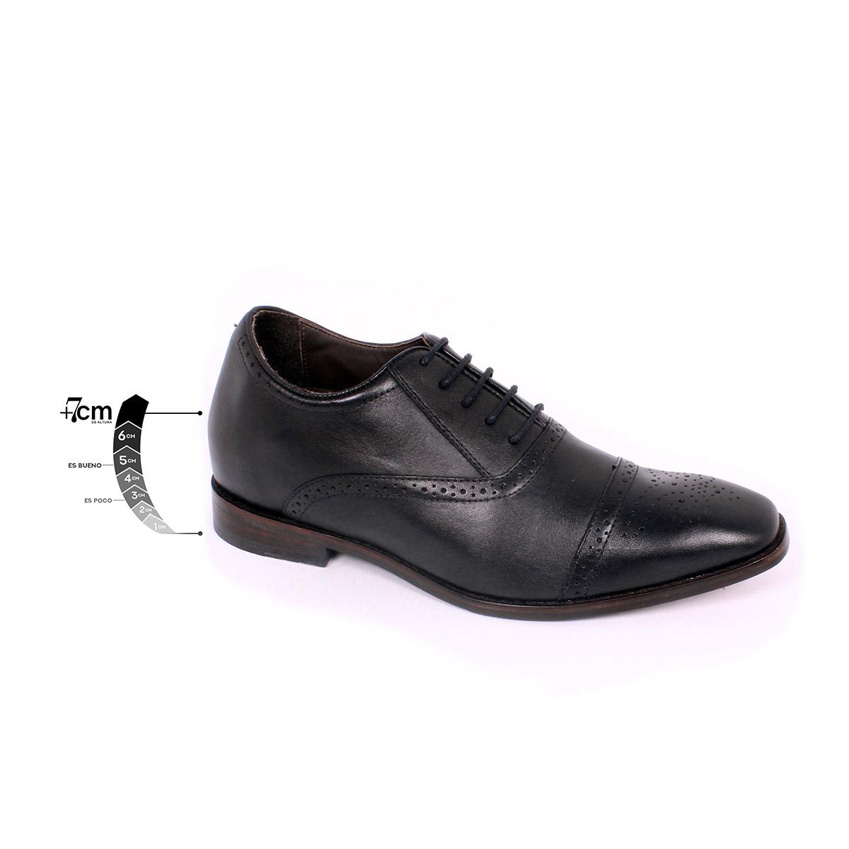 Zapato Formal British Negro Max Denegri +7cms de Altura_75302