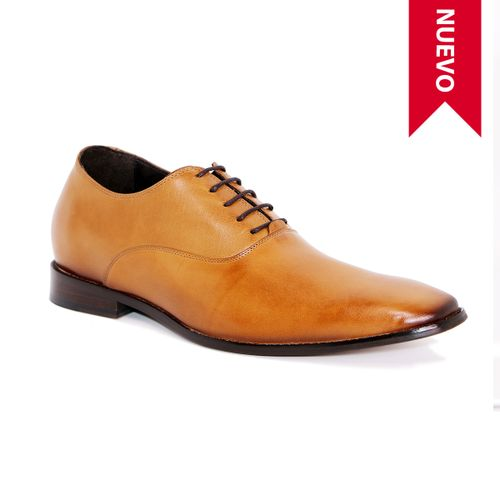Zapato Formal Elegant Café Claro Max Denegri +7cm de Altura