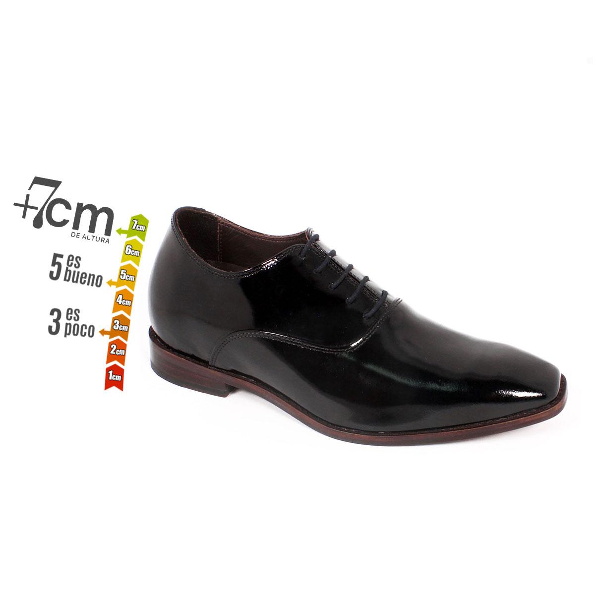 Zapato Formal Elegant Charol Negro Max Denegri +7cm de Altura_74152