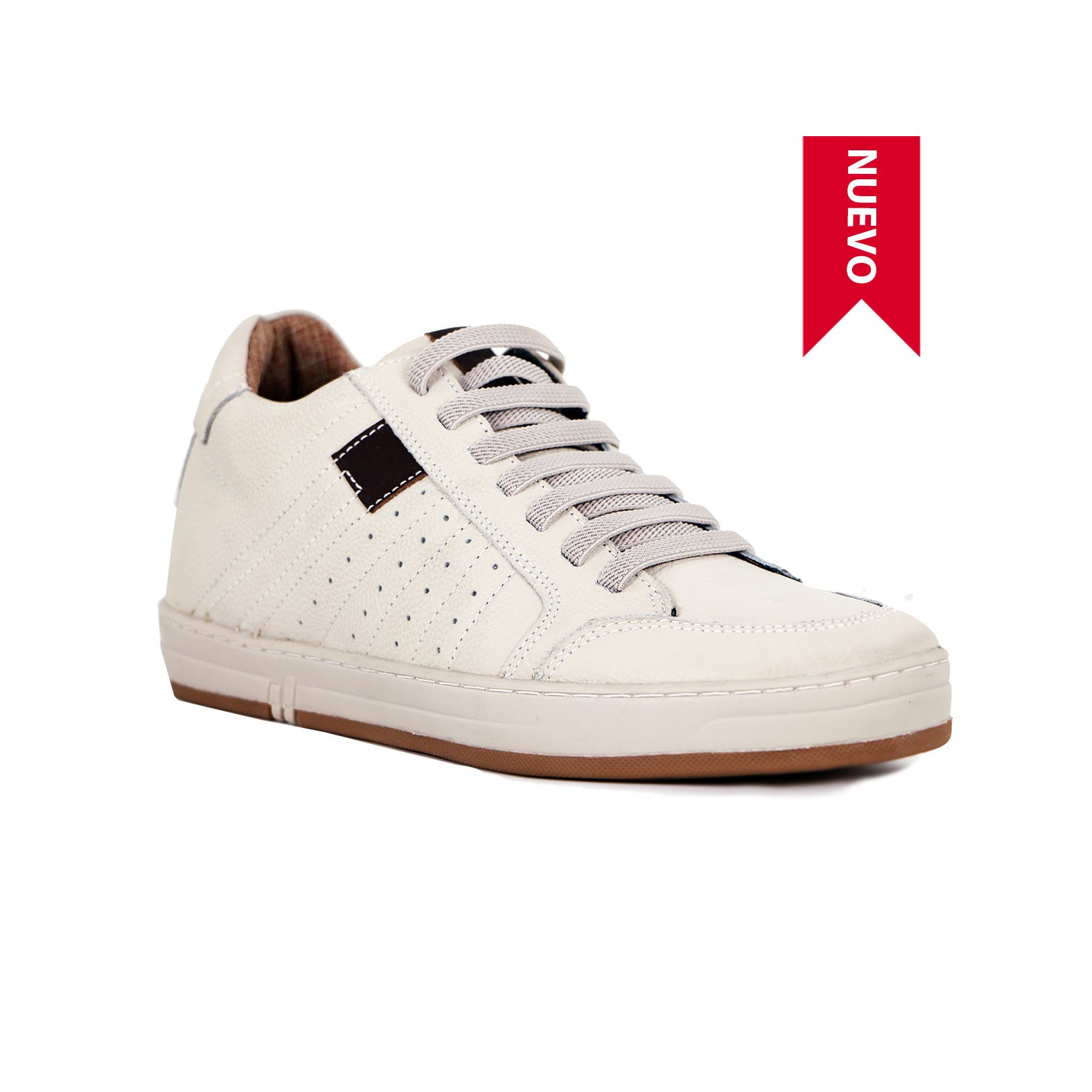 Tenis Derby Blanco Max Denegri +7cms de Altura_73436