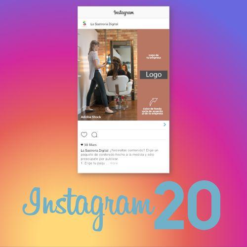 20 piezas de contenido para Instagram