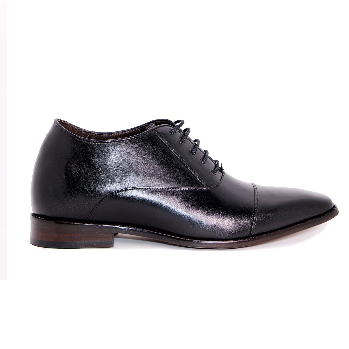 Zapato Formal Director Negro Max Denegri +7cms De Altura_72711