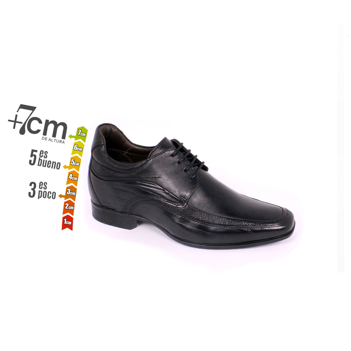 Zapato Formal Manager Negro Max Denegri +7cm de Altura_74159
