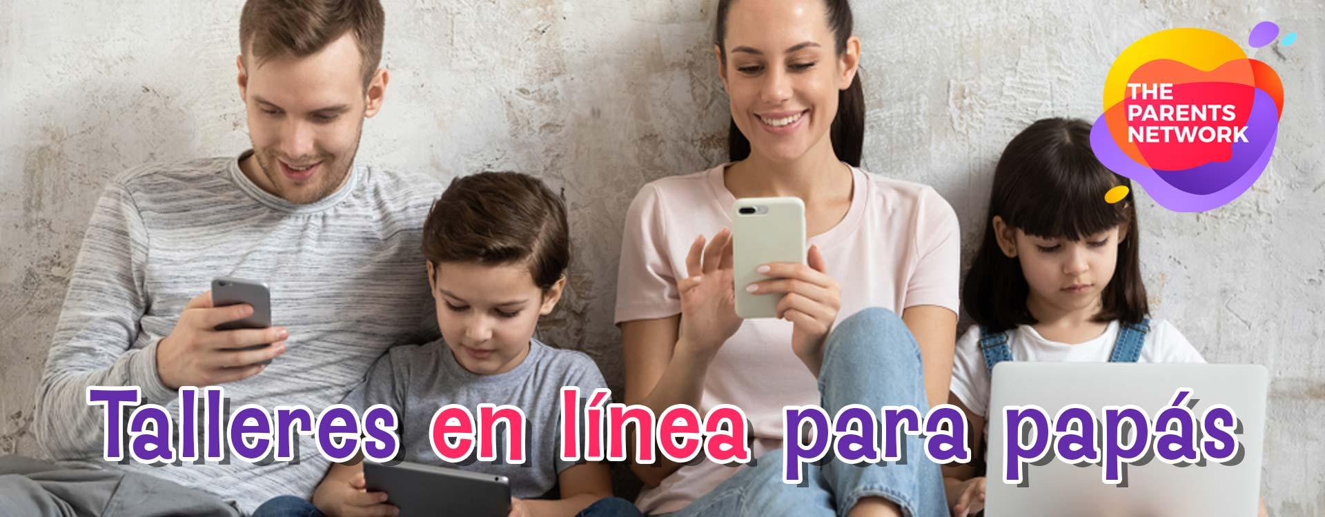 Talleres en linea para papas, uso de la tecnologia, configuracion