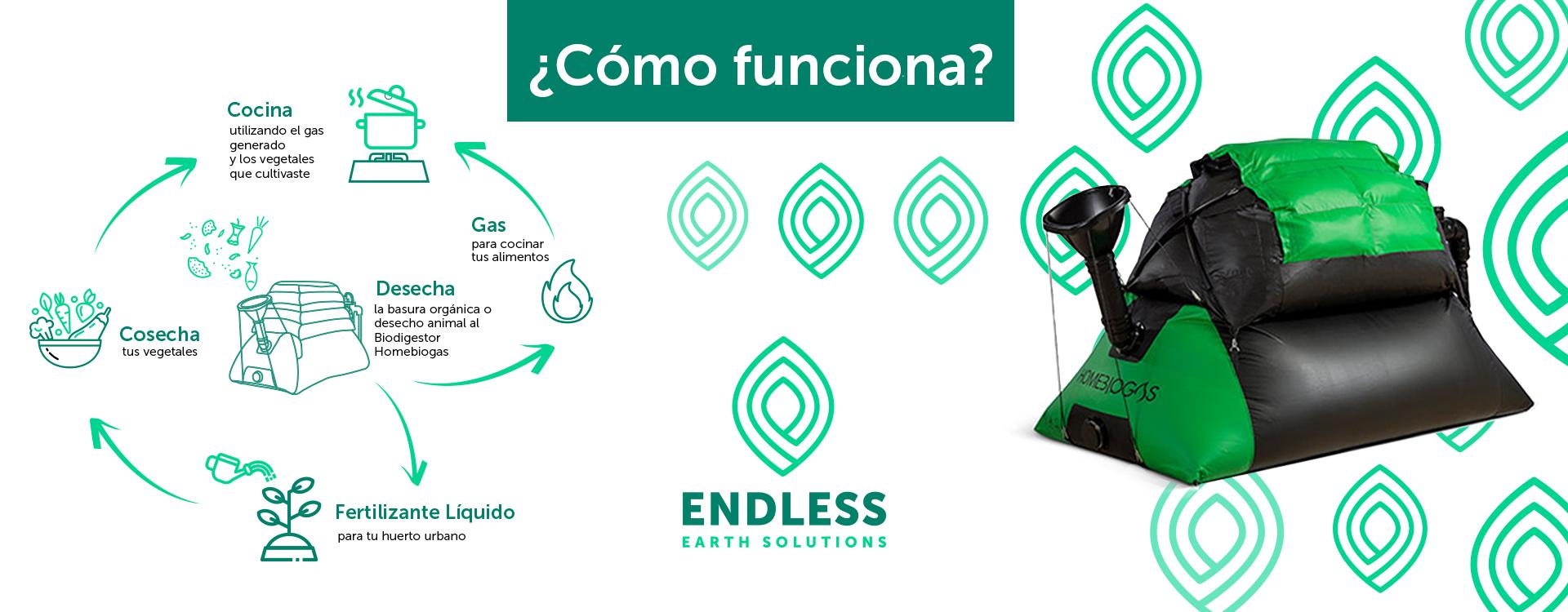 Endless Solutions ¿cómo funciona el biodigestor?